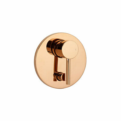 New Rose Gold round WALL Shower MIXER with diverter Tap Handle