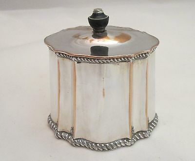 An Interesting Old Sheffield Plate Tea Caddy - c1800