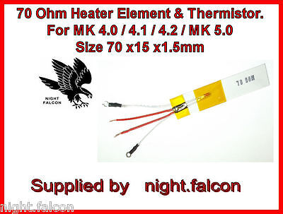 NEW-GHD MK4 / MK5 COMPATIBLE 70 ohm HEATER ELEMENT & THERMISTOR
