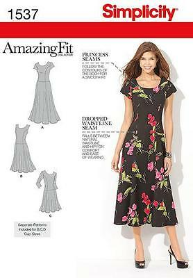 Simplicity Amazing Fit SEWING PATTERN 1537 Misses Or Womens Dress