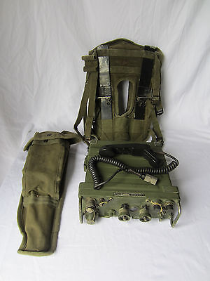 US Military RT-841-PRC-77 Military Receiver Transmitter Radio W/ Antenna & Pack