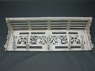 Cast Iron Wardrobe Hat Rack Shabby Varnished 72 cm in the Gründerzeit Era