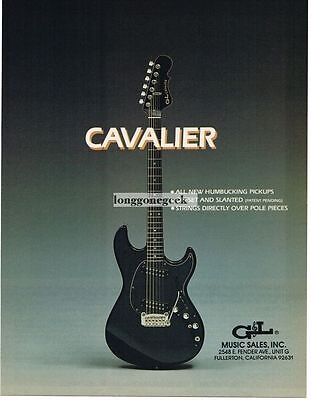 1983 G&L Cavalier Electric Guitar Magazine Ad
