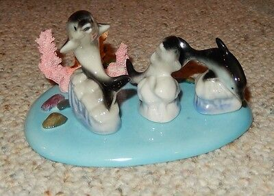 4 Piece Dolphins China Set Family Four