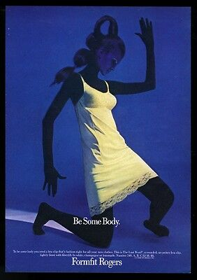 1969 Formfit Rogers lingerie yellow slip woman photo vintage print ad