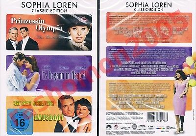 DVD HOUSEBOAT+A BREATH OF SCANDAL+IT STARTED IN NAPLES Sophia Loren Region 2 NEW
