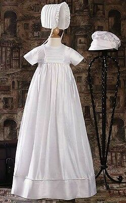 Boy Girl Christening Baptism Family Gown Silk Dupioni Slip 2 Hats HANDMADE DPF50