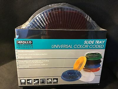 Lot of 2 - Apollo Deluxe Slide Tray - Black Holds 80 Slides  - Factory Sealed