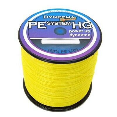 Power Line 300M 500M 1000M Yellow 100% PE Top Quality Dyneema Braid Fishing Line