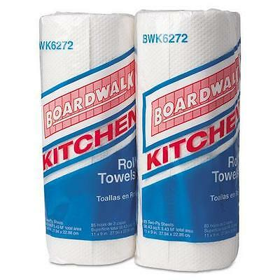 BoardWalk 6272 Paper Towel Rolls, Perforated, 2-Ply, White, 85 Sheets/Roll, 30 R