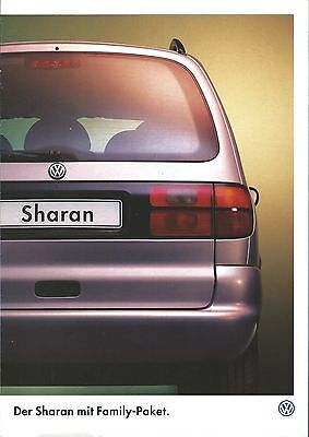Auto Brochure - Volkswagen - Sharan Family - c1997 - GERMAN Prospekt (A1251)