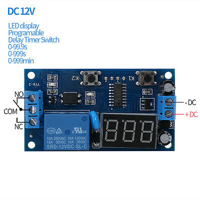 DC 12V Cycle Delay Timer Switch Adjustable Relay Module Board Infinite Loop Led