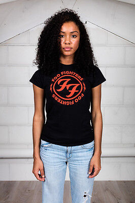 Official Foo Fighter Red Circle Women's T-Shirt Gold Circle Snake Loops To Lose