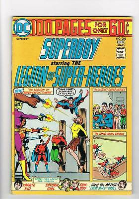 Superboy # 205 Legion of Superheroes 100 page issue grade 4.5 scarce book !!