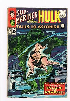 Tales to Astonish # 71  Escape to Nowhere !  grade 4.0 scarce book !!