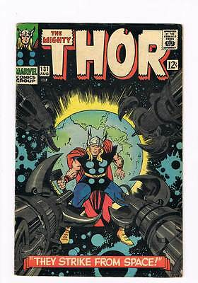 Thor # 131  They Strike From Space !  grade 5.5 scarce book !!