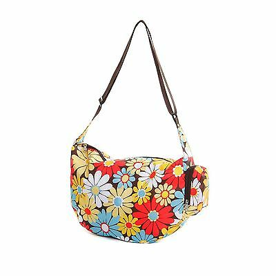 Very Lovely Bags Co. Folding Fold Away Slouch Bag - Retro Daisy