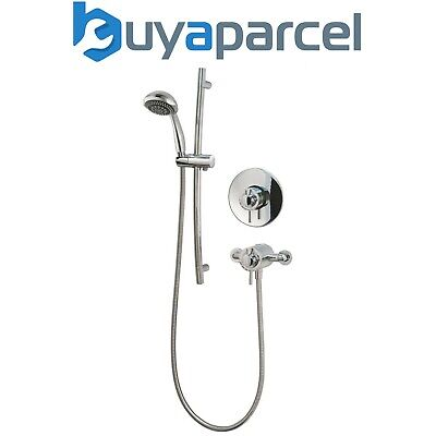 MX Fusion Dual Exposed Concealed Thermostatic Shower Mixer with Riser Rail Kit