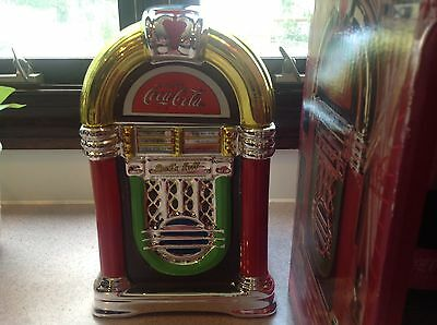Gibson Coca Cola Retro Rockin' Roll Jukebox Cookie Jar Canister BOXED GREAT