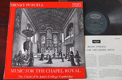 Argo Zrg 5444 Purcell Music For The Chapel Royal Lp Guest Nm- Oval England