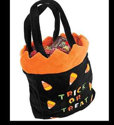 "NEW Candy Corn Halloween Trick or Treat Bag  ""SOFT"""