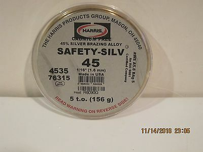 Harris Safety-Silv 45% 1/16 Silver Solder Brazing Alloy 5 Troy Ounce, 4535 76315