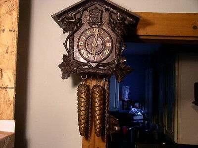 Antique Cuckoo Clock~Ca. 1850s~Wooden Plate Movement~Just Restored And Runs Nice