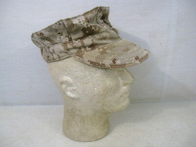 USMC Marpat Desert Camouflage Utility Cap or Hat - Size Small - Excellent Cond.