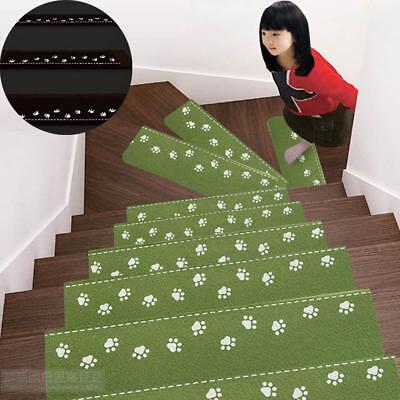 NEW Self Adhesive Anti-Skid Treads Mat Stair Carpet Pad Light Dark Luminous - LD