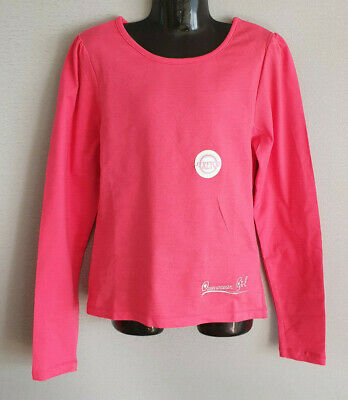 BNWT Girls Sz 14 Cute Hot Pink Ozemocean Girls Long Sleeve Stretch Top