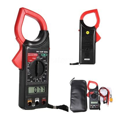 Electronic Digital Clamp Meter Multimeter AC DC Current Volt Tester Tool + Lead