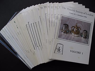 THIMBLE SOCIETY OF LONDON - 31 issues. Autumn 1984 - Spring 1992
