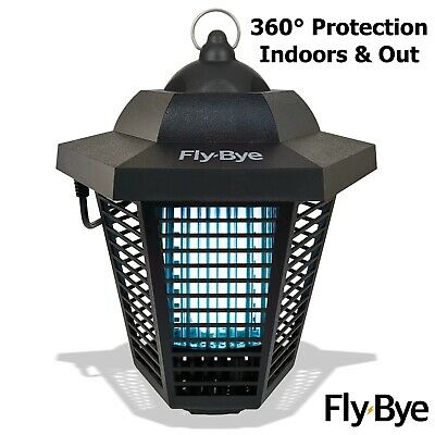 Electronic Insect Zapper Powerful UV Bulbs = 8W - Bug Fly Wasp Pest Killer Trap