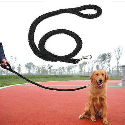 Heavy Duty Pet Braided Rope Leads Leash For Large Dog Labrador Golden Retriever