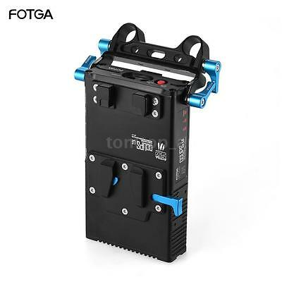 FOTGA DP500Ⅲ V-Mount Lock Battery Power Supply Plate f. 15mm Rod A7 A7R A7S I7W4