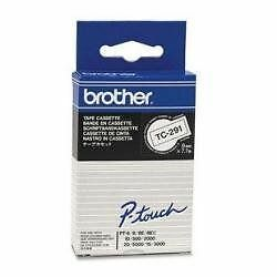 Brother - PTOUCH 9MM WHITE/BLACK - Bande cassette 500/8E/2 [TC291] [Blanc] NEUF