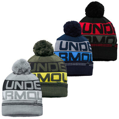 e9d8ad77092 Under Armour Mens UA Golf Retro Pom Beanie 2.0 Winter Wooly Hat 26% OFF RRP