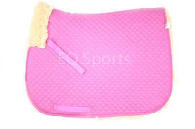FAST P&P Quality Full Fleece Faux Sheepskin Saddlecloth Pink