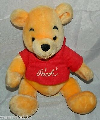 "Vintage Winnie The Pooh Disneyland Disney World Plush 14"" Stuffed Bear Toy"