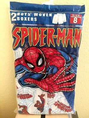 Boys Woven Boxers Pack of 2 Marvel Spiderman Size 6