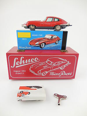Schuco Micro Racer 1047/1 Jaguar XKE Red Limited Ed Wind Up Car New in Box