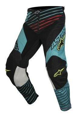Crosshose Alpinestars Youth Racer Braap Pants 2017 teal/black/yellow-fluo Gr. 26
