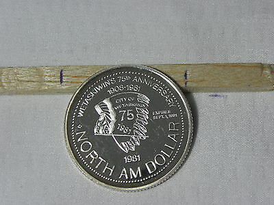 1981 Wetaskiwin  , Canada .999 Silver  $1 Trade Token  Mintage Included In 184A