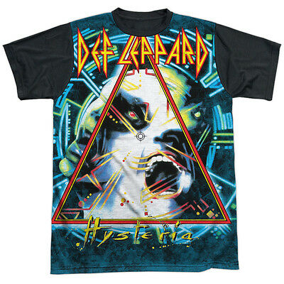 Def Leppard Hysteria Mens Sublimation Shirt with Black Back