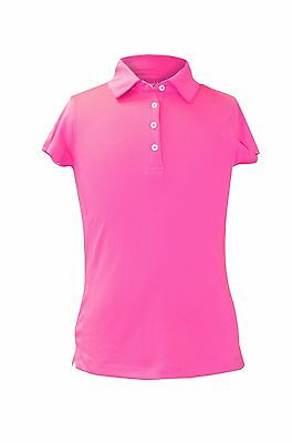"GARB AUDRA Girls SHORT SLEEVE POLO ""LOT of 12 Polo's ~ XL"" HOT PINK NEW $760"