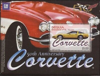 Bequia, St Vincent Grenadines - 2003 Corvette - Stamp Sheet #320