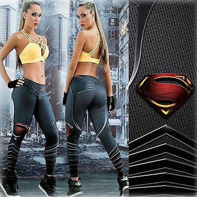Women Sports Fitness High Waist Yoga Leggings Workout Gym Stretch Trousers