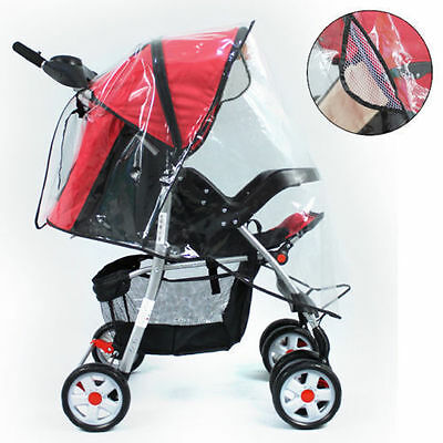 Universal Baby Pushchair Buggy Ventilated Stroller Highly Transparent Rain Cover