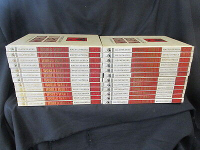 Complete Set Of Illustrated World War Ii Encyclopedia: 24 Volumes Very Good Cond