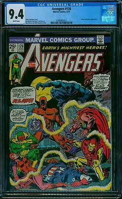 Avengers # 126  None can Stand against...Klaw !  CGC 9.4 scarce book !